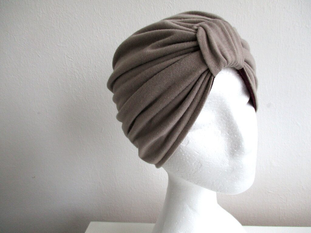jersey turban/ reversible pleated chemo hat/ double-layer headcover/ sewing pattern pdf + photo tutorial/ for baby, girl and woman, (10 sizes)