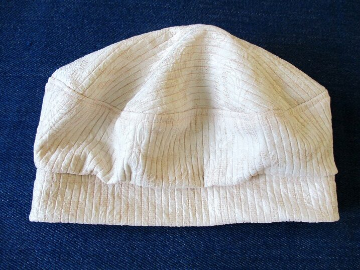 beret-style jersey hat/ lined cuff beanie/ double-layer chemo cap, sewing pattern PDF (6 sizes) + photo tutorial, for woman and girl