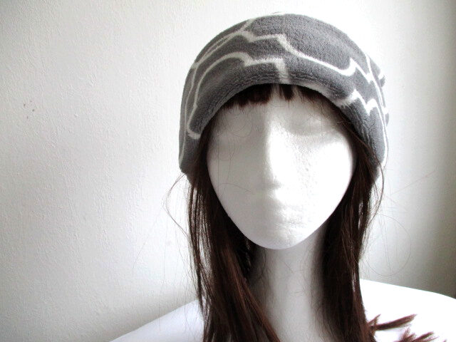 fleece fold-up hat/ winter chemo beanie/ one layer slouchy cap, sewing pattern pdf + photo tutorial, for an adult to baby, (8 sizes)
