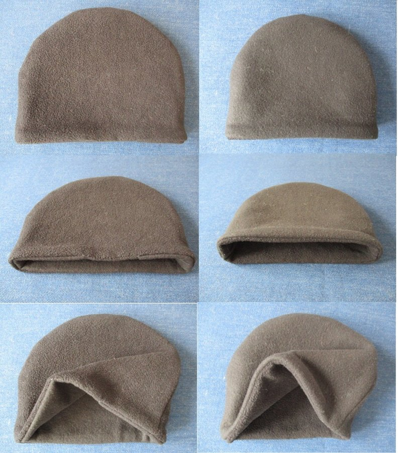 simple reversible winter fleece beanie / double layer chemo hat / warm skull cap, pdf sewing pattern and photo tutorial, adult to child, (6 sizes)