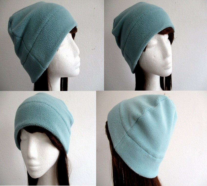 single layer winter fleece skull beanie / unlined warm cap / soft chemo hat, pdf sewing pattern and photo tutorial, adult to child, (6 sizes)